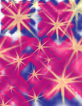 Magenta Purple Yellow Stars