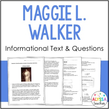 Maggie L. Walker Reading and Questions (VS.9d)