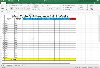 Maggie Made: Attendance Tracker