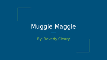 Maggie Maggie: A Novel Guide