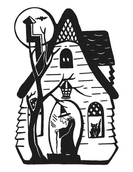 Maggie The Witch's House Coloring Page