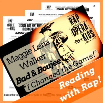 Maggie Walker Sequence of Events Reading Passage and Worksheets Using Rap Song
