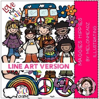 Maggie's Hippies by Melonheadz LINE ART