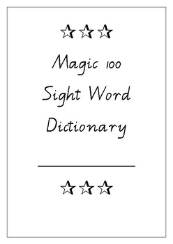 Magic 100 Sight Word Test Booklet
