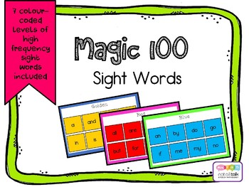 MAGIC 100 SIGHT WORDS HIGH FREQUENCY WORDS