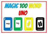 Magic 100 Word Uno like Card Game
