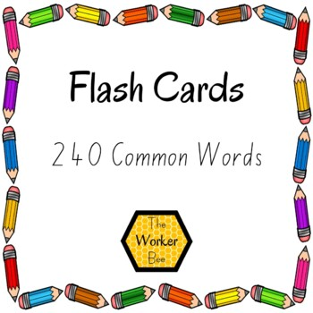 Magic 100 Words Flash Cards