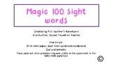 Magic 100 sight word FLASH cards