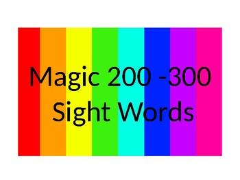 Magic 200-300  Sight Word PowerPoint