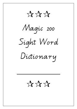Magic 200 Sight Word Test Booklet