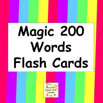 Magic 200 Words Flash Cards