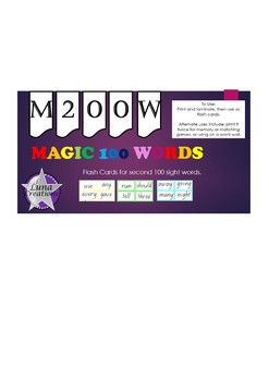 Magic 200 flash cards.