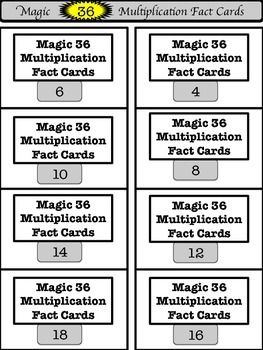 Magic 36 Multiplication Practice Set