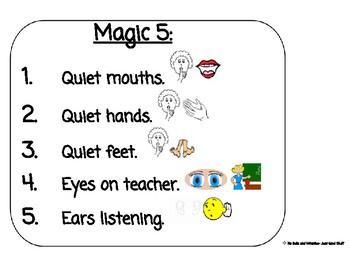 Magic 5- Behavior Expectations