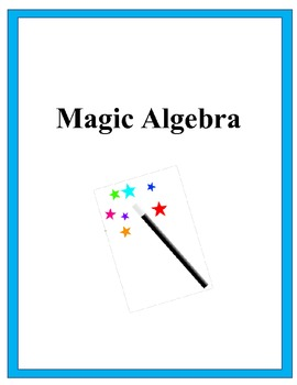 Magic Algebra Activity - Solving Equations Challenge