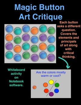 Art Critique with Magic Buttons