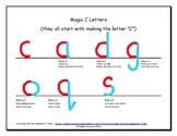 Magic C Letters Handout- Handwriting Without Tears Style
