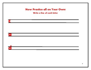 Magic C Letters Handwriting Practice Sheets