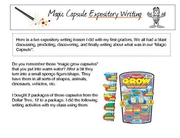 """Magic Capsule"" Expository Writing"