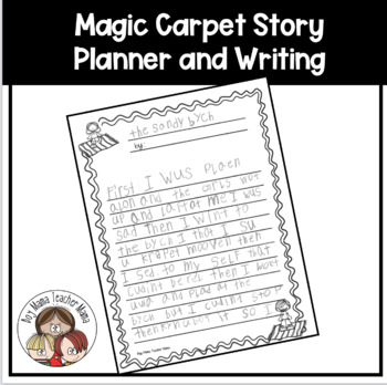 Magic Carpet Flying Carpet Story Planners with Writing Paper