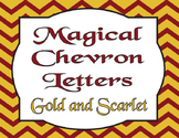Back to school Harry Potter inspired Chevron Letters Gold