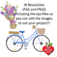 Bicycle clipart, Bicycle and Flowers, Shabby chic clipart,