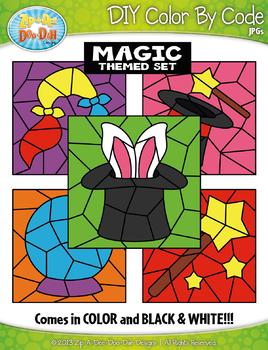 Magic Color By Code Clipart {Zip-A-Dee-Doo-Dah Designs}