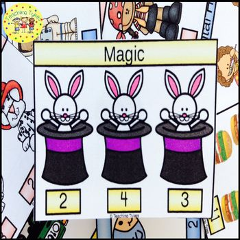 Magic Count and Clip Task Cards