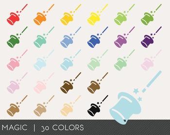 Magic Digital Clipart, Magic Graphics, Magic PNG, Rainbow Magic Digital Files