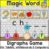 Magic Digraphs Game - Beginning & Ending Digraphs Word Building Digital Game
