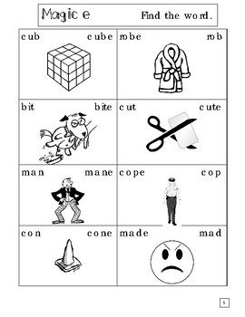 Magic E Activity Packet! (Inspired by Orton-Gillingham Approach)