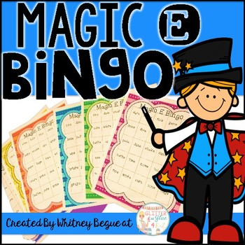 Magic E Bingo!
