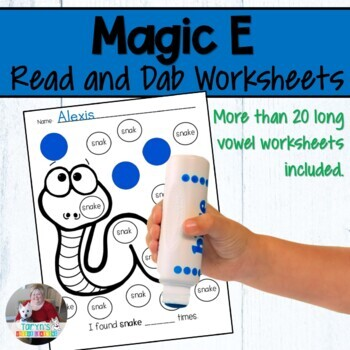 """Magic E"" Bingo Dauber Activity"