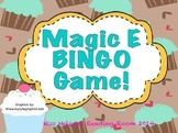 Magic E Bingo Game!  Cupcake Theme!