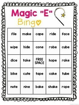 Magic E Bingo Games