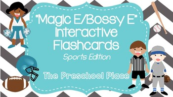 Magic E/ Bossy E Interactive Flashcards- Sports Edition- 88 Flashcards Included