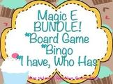 Magic E Bundle-Board Game, Bingo, and I Have Who Has! Cupcake Theme!