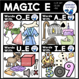 Magic E Bundle Phonics Clip Art BUNDLE - Whimsy Workshop Teaching