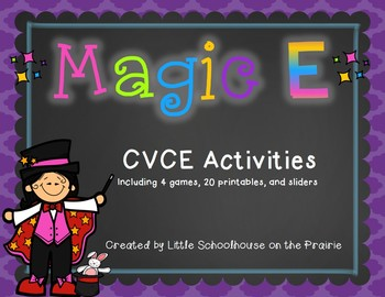 Magic E - CVCE Activities