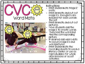 Magic E - CVCe Word Mats