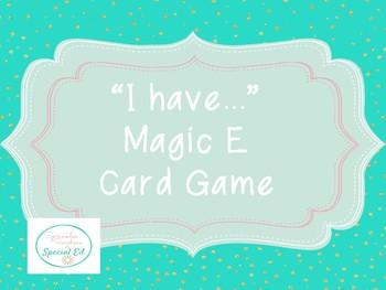Magic E Card Game