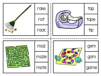 Magic E Clip Cards