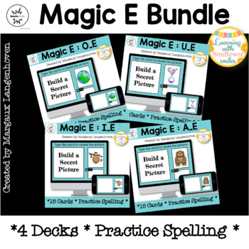 Magic E Digital Task Cards (Boom Cards™ Task Cards)
