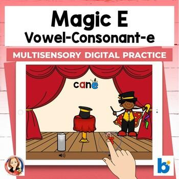 Magic E Digital Boom Task Cards for Silent E Practice