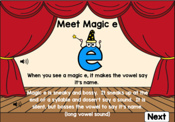 Magic E Digital Boom Task Cards for Silent E Practice