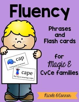 Magic E Flash Cards and Fluency Phrases