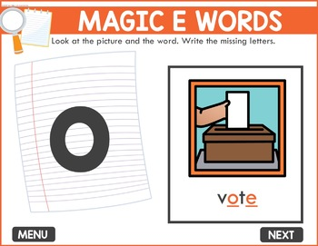 Magic E Game -  Phonics Game for Smartboards & Whiteboards