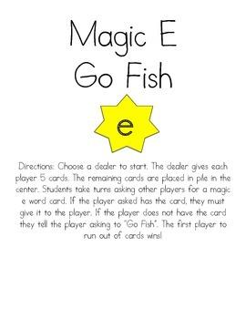 Magic E Go Fish