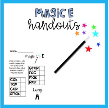 Magic E Handouts