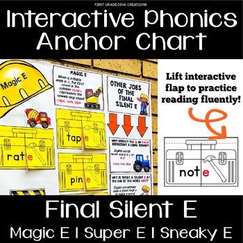 Magic E, Super E, Sneaky E Interactive Anchor Chart